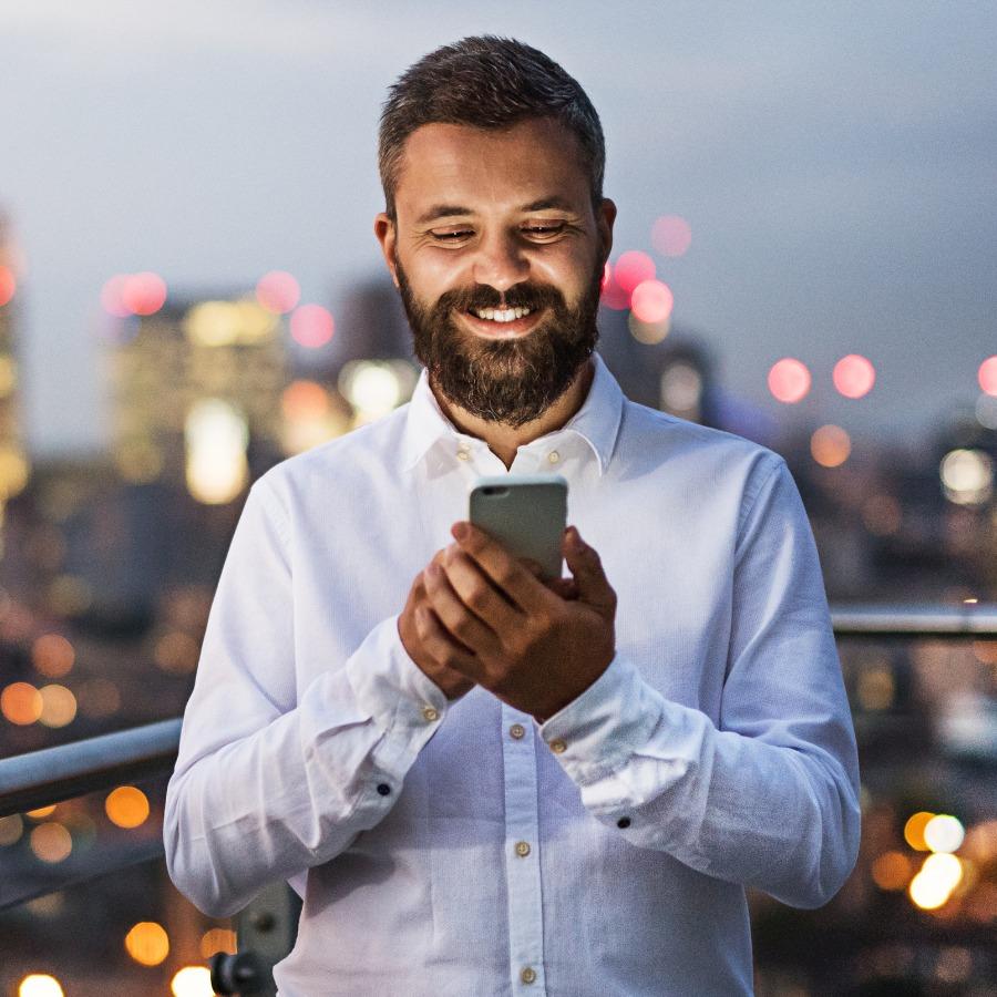 Businessman using Ci anywhere - TechnologyOne