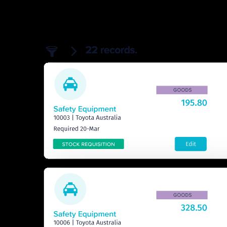 20B Stock Usage enhancements - TechnologyOne